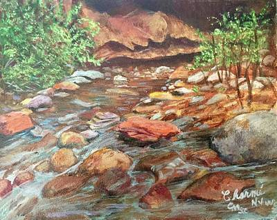 Mixed Media - Fall In Oak Creek Canyon by Charme Curtin
