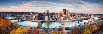 Fall In Pittsburgh  Art Print