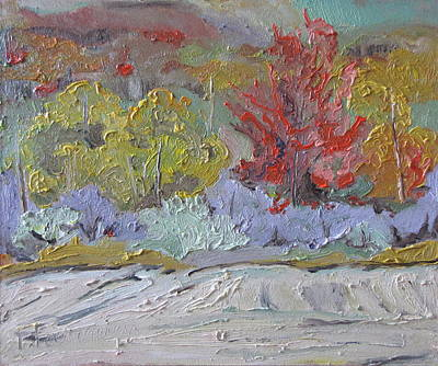 Eastern Townships Painting - Fall In Quebec Canada by Francois Fournier