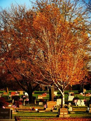 Photograph - Fall In The Cemetery by Kyle West