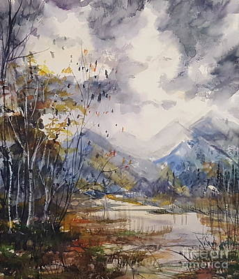 Painting - Fall In The Mountains by Reed Novotny