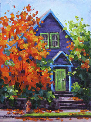 Painting - Fall In The Neighborhood by Karen Ilari