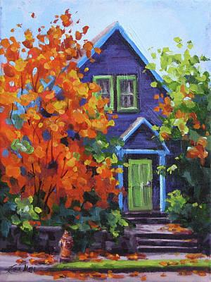 Painting - Fall In The Neighborhood by Karen Ilari