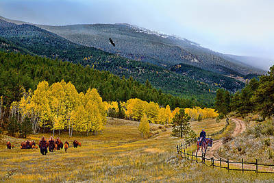 Wilderness Camping - Fall In The Rockies by Tom Schmidt