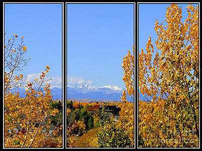 Photograph - Fall In The Rockies - Triptych by Al Bourassa