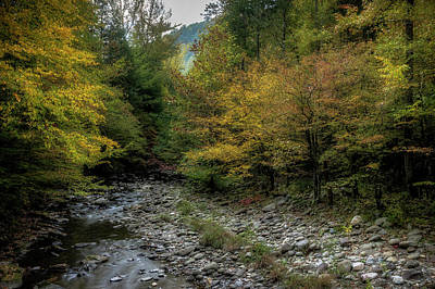 River Scenes Photograph - Fall In The Smokies by Mike Eingle