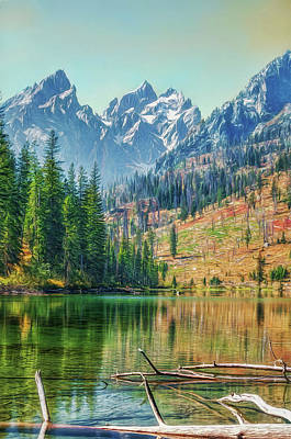Photograph - Fall In The Tetons by Maria Coulson