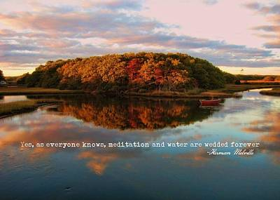 Fall In Wellfleet Quote Art Print by JAMART Photography