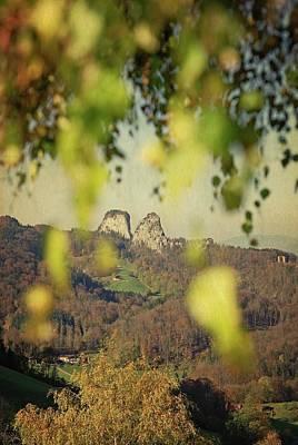 Susann Serfezi Wall Art - Photograph - Fall-ing Leaves by AugenWerk Susann Serfezi