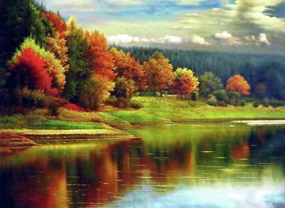 Painting - Fall Invitation by Yoo Choong Yeul