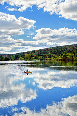 Country Scenes Photograph - Fall Kayaking Reflection Landscape by Christina Rollo