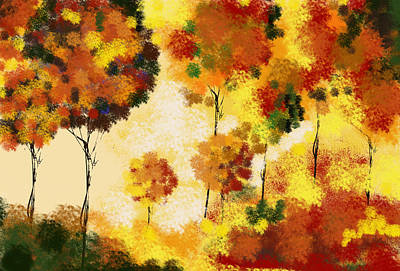 Mist Painting - Fall Landscape by Art Spectrum
