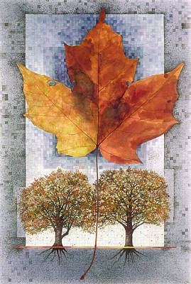 Painting - Fall Leaf by John Dyess