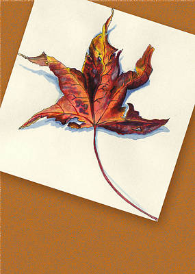 Painting - Fall Leaf by Thomas Lupari