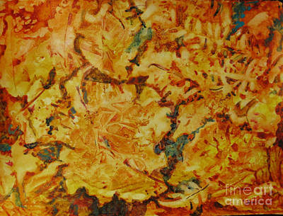 Painting - Fall Leafs by Linda Rupard
