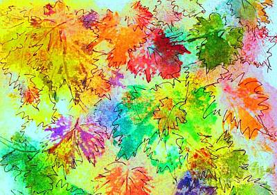 Painting - Fall Leaves 7 by Hazel Holland