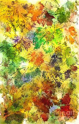 Painting - Fall Leaves 8 by Hazel Holland
