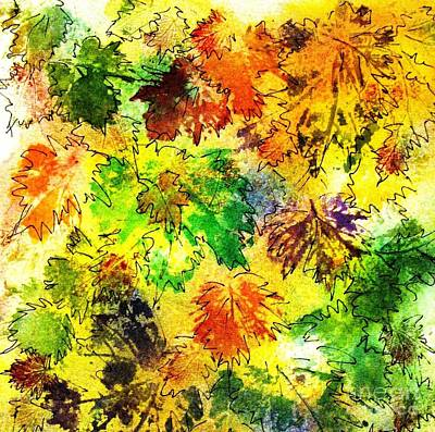 Painting - Fall Leaves 9 by Hazel Holland