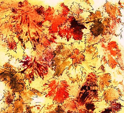 Painting - Fall Leaves 10 by Hazel Holland