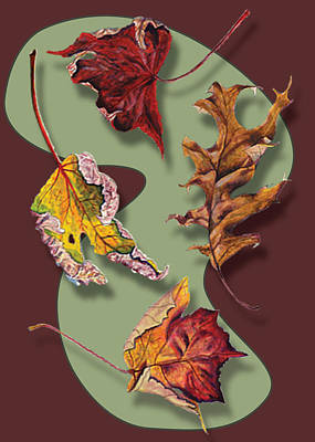 Painting - Fall Leaves Card by Thomas Lupari
