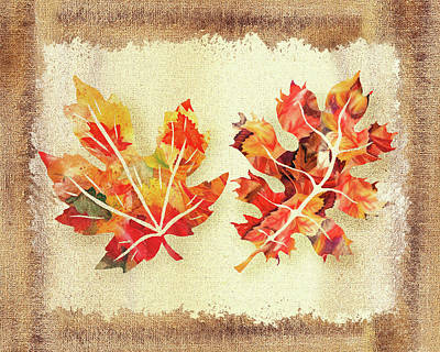 Painting - Fall Leaves Collection by Irina Sztukowski
