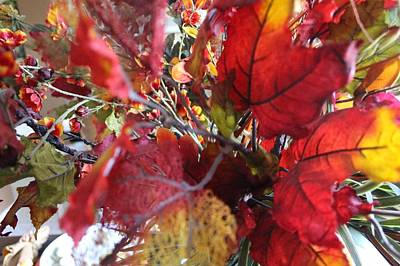 Photograph - Fall Leaves Design 1 by Sheri Dean