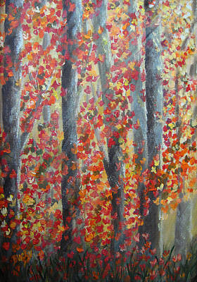 Painting - Fall Leaves by Donna Blackhall