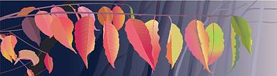 Wall Art - Painting - Fall Leaves by Marian Federspiel