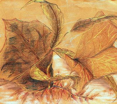 Pastel - Fall Leaves by Vonda Lawson-Rosa