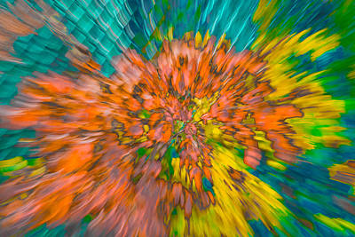 Photograph - Fall Leaves Zoom Abstract by Bruce Pritchett