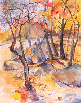 Painting - Fall Light 2 by Nancy Watson