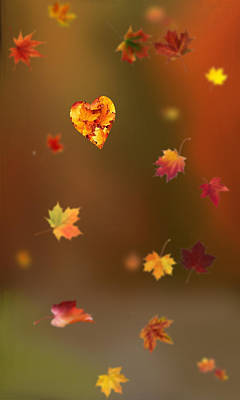 Abstract Shapes Digital Art - Fall Love by Art Spectrum