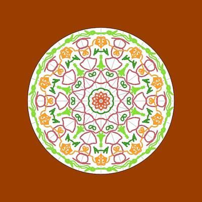 Wall Art - Digital Art - Fall Mandala by Helen Krummenacker