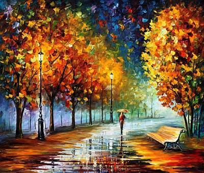 Afremov Painting - Fall Marathon by Leonid Afremov