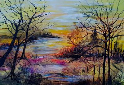 Painting - Fall Meander by Jan VonBokel