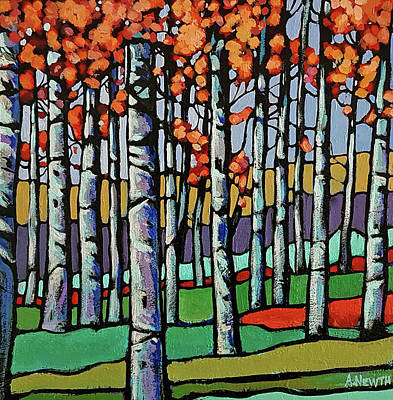 Wall Art - Painting - Late Fall by Alison Newth