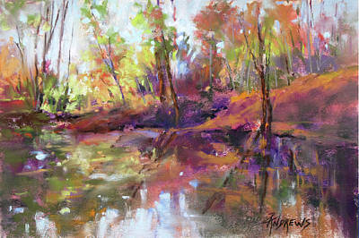 Painting - Fall Millpond by Rae Andrews