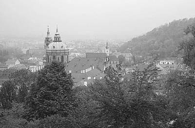 Fall Mist Surrounds St. Nicholas Church In Prague Art Print by John Julio