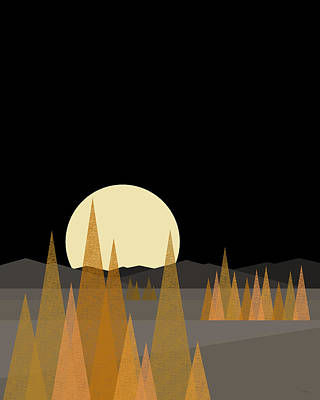 Digital Art - Fall Moon - Vertical by Val Arie