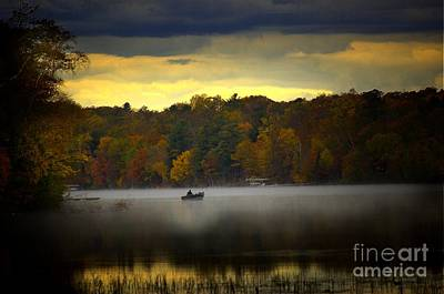 Fall Morn On The Chippiwa Art Print by The Stone Age