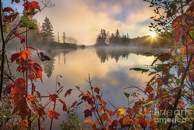 Photograph - Fall Morning On The Pond by Benjamin Williamson