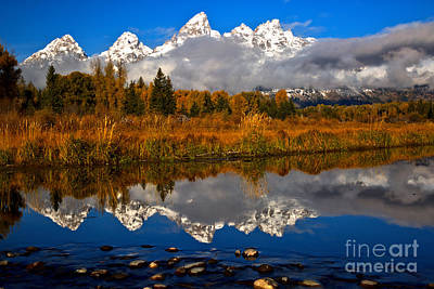 Photograph - Fall Morning Reflections At Schwabacher Landing by Adam Jewell