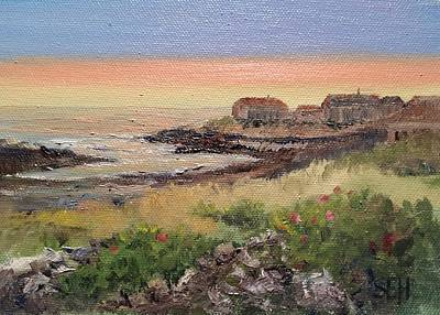 Perkins Cove Painting - Fall Morning by Susan E Hanna
