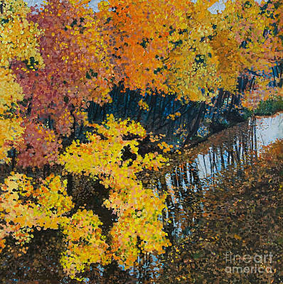 Painting - Fall Mosaic II by Lucinda  Hansen