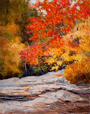 Fall Mountain Foliage Art Print