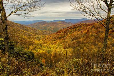 Photograph - Fall Mountain Overlook by Barbara Bowen