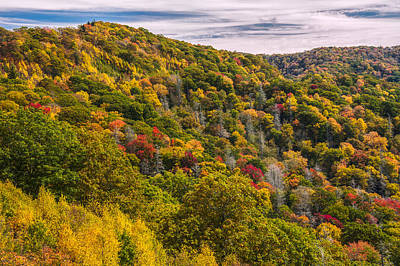 Photograph - Fall Mountain Side by Tyson Smith