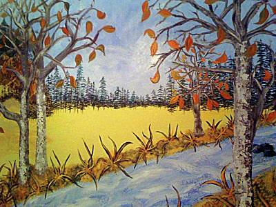 Painting - Fall-mural by Afrodita Ellerman