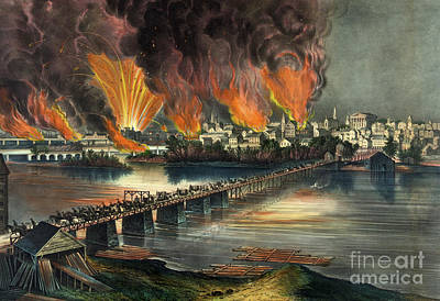 Fall Of River Painting - Fall Of Richmond by American School