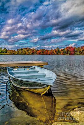 Fall On Alloway Lake Art Print by Nick Zelinsky